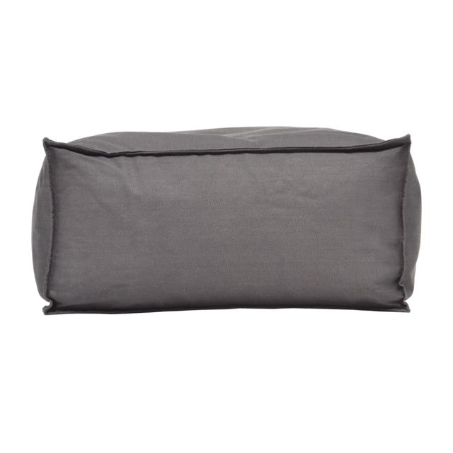Francodim International Pouf carré en tissu gris 60 x 60 cm Hocker