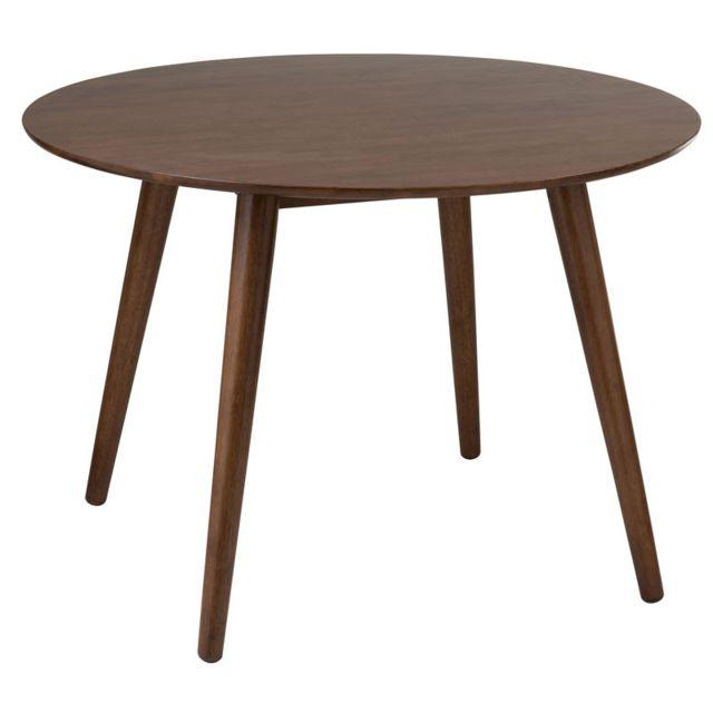 Tousmesmeubles Table de repas ronde Bois marron - Mortsel