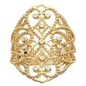 35c6cd5a731 Sochicbijoux - So Chic Bijoux © Bague Femme Anneau Large Arabesque Ciselée  Dentelle Oxyde de Zirconium