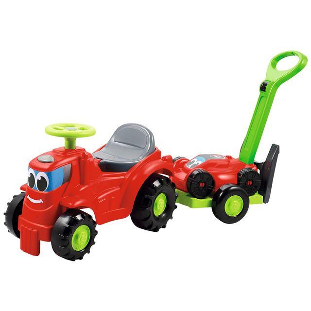 Ecoiffier Porteur Tracteur avec remorque tondeuse