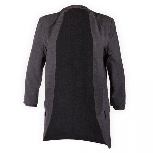 Best Mountain - Blazer gris col châle femme - pas cher Achat   Vente Veste  femme - RueDuCommerce b60752d0e23