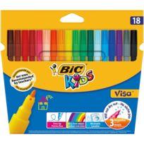 Lot de 18 feutres Kids Visa - Couleurs assorties