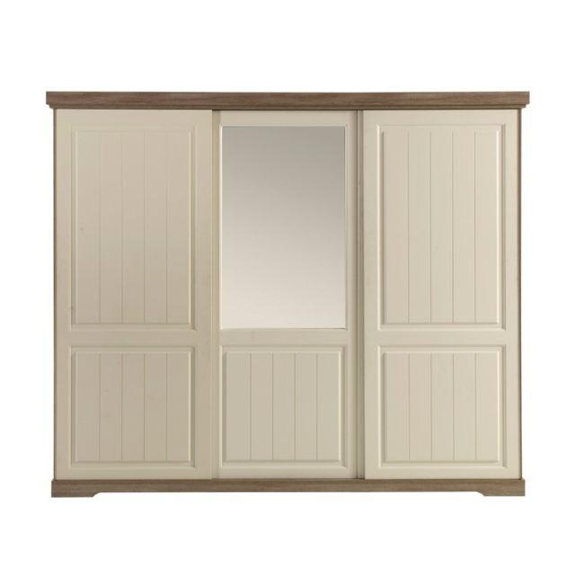 tousmesmeubles armoire 3 portes coulissantes tiva. Black Bedroom Furniture Sets. Home Design Ideas