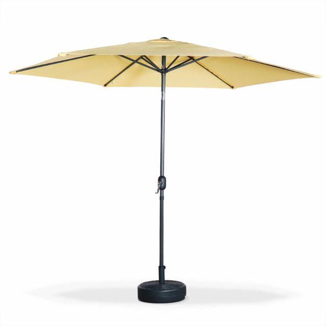 alice 39 s garden parasol droit rond 300cm touquet jaune. Black Bedroom Furniture Sets. Home Design Ideas