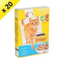 Friskies - Croquettes grand menu saumon pour chat 400g 20