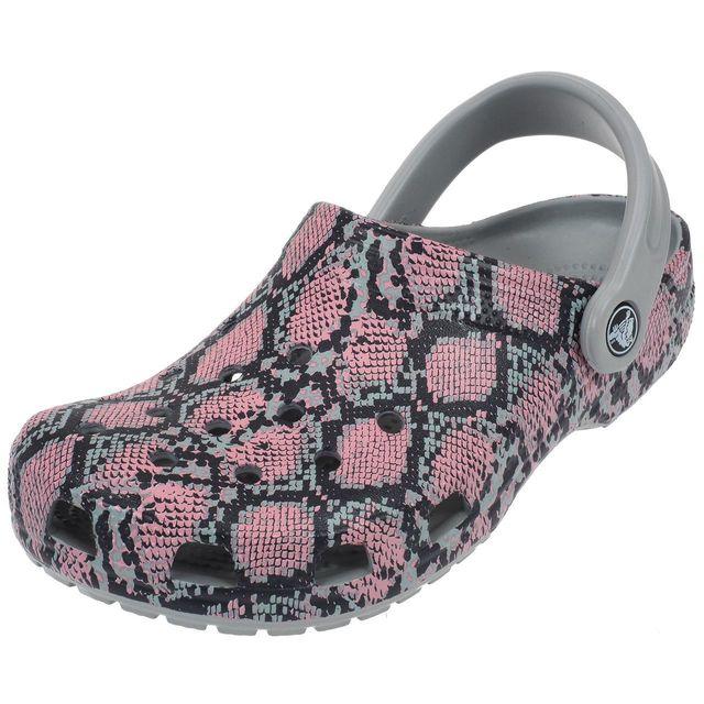 Crocs - Sabots Classic snake graphic clg Blanc 12870 - pas cher ... 6e3d5bf0b01a