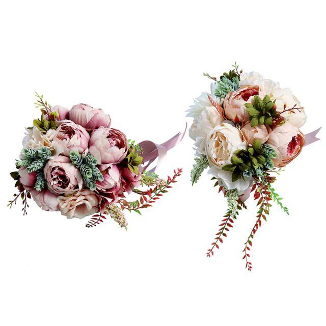 Bouquet de fleurs de mariage Pivoine Demoiselle
