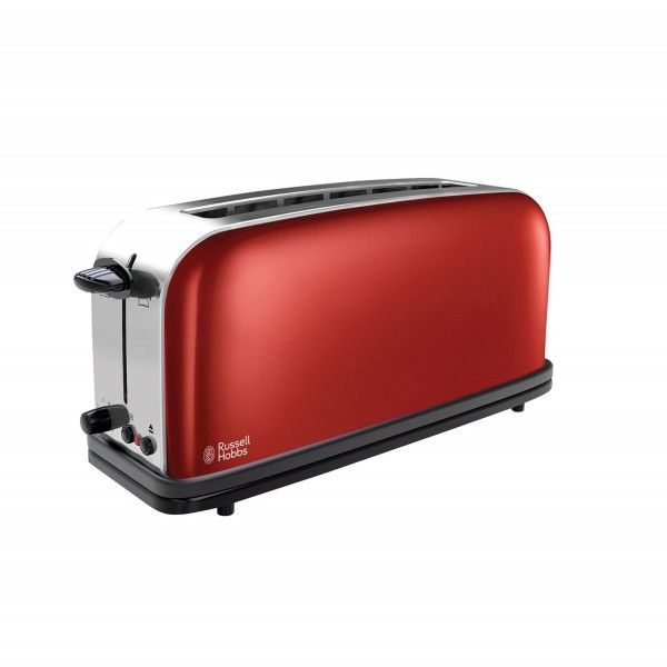 Russell Hobbs Grille pain 1 fente Longue - 1000W Colours Rouge 21391-56