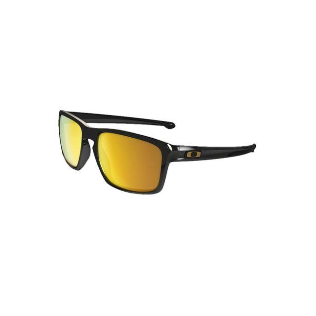 15e4901f1d5269 Oakley - Lunettes de soleil Sliver Polished Black 24K Iridium - pas cher  Achat   Vente Lunettes Tendance - RueDuCommerce
