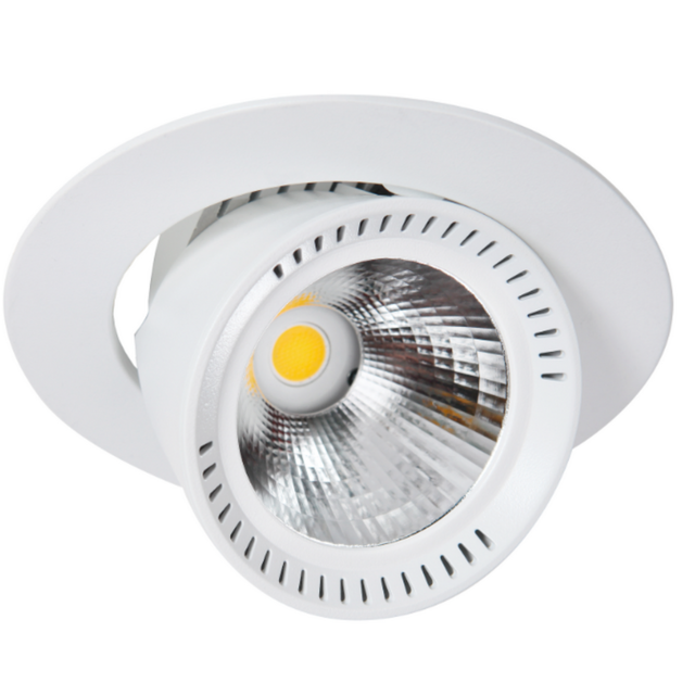 Lival Lean Dl Mini 19MAB126 - Spot encastrable au plafond à Led rond orientable