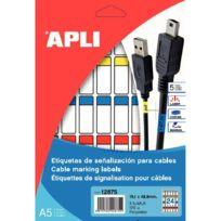 Apli - agipa - 12875 - etiquette câble 19.1 x 48.5mm - paquet de 120