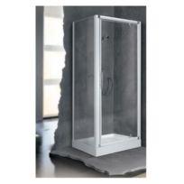 Novellini - Porte pivotante transparente accès de face 84 à 90 cm Lunes G - Lunesg84-1D