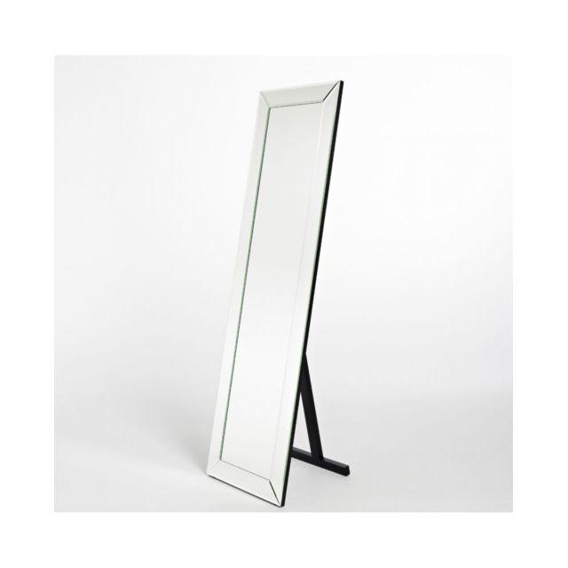 Deknudt Mirrors Miroir Basta Standing Classique Rectangulaire Naturel 48x165 cm