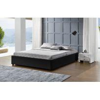 Fournier Decoration - Podium Noir Lit Coffre 160X200 Cm