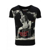 Trueprodigy - Tee shirt col V Noir 107 Noir
