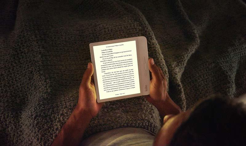 Liseuse numérique Libra H2O 7'' Kobo confortable et ergonomique
