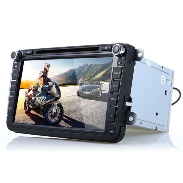 Auto-hightech Autoradio Stéréo de Voiture 8 pouces Android 4.4.4 Cortex A9, Cpu 1 Go, Ram 0.98 Go, Rom