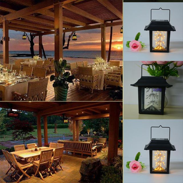 Generic Led classique lumière solaire Outdoor Hanging Lantern Smokeless Gypsophila lampe chaude