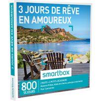 Smartbox - 3 jours de rêve en amoureux - 800 séjours partout en France ou en Europe : maisons dhôtes, hôtels de charme, auberges et domaines - Coffret Cadeau