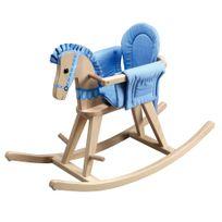 Teamson Kids - Cheval à bascule Safari Bleu