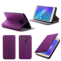 Xeptio - Etui coque luxe Asus Zenfone 3 Laser Zc551KL violet Ultra Slim - Housse pochette