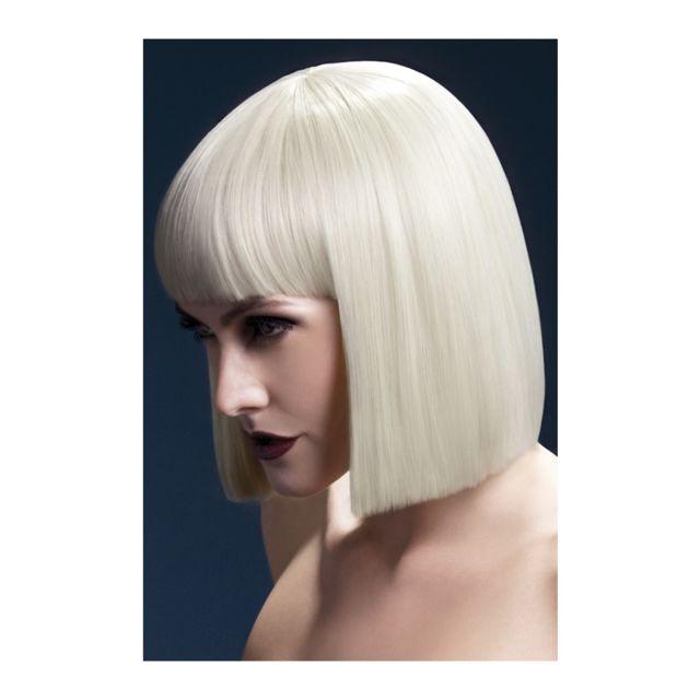 Perruque carré blond de 30cm et frange