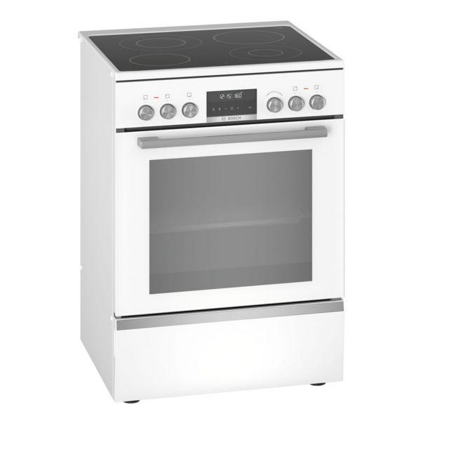 Bosch cuisinière vitrocéramique 63l 4 feux blanc - hks79r220