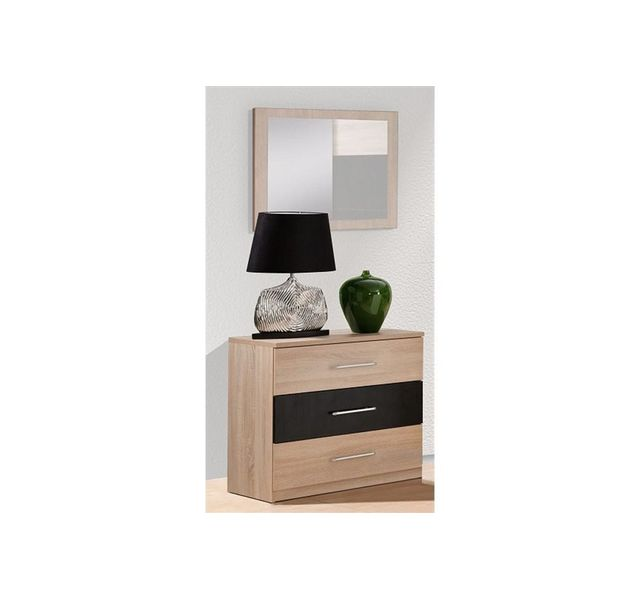 chloe design commode avec miroir lali bois clair sebpeche31. Black Bedroom Furniture Sets. Home Design Ideas
