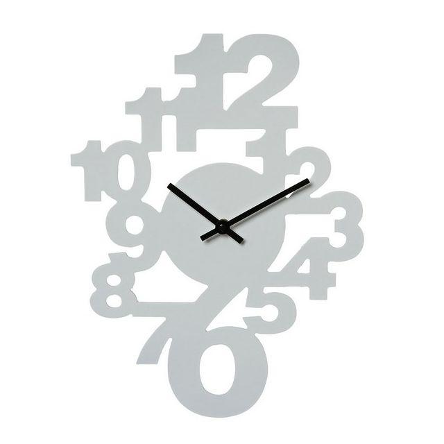 MAISON FUTEE - Horloge murale Chiffres Couleur Blanche