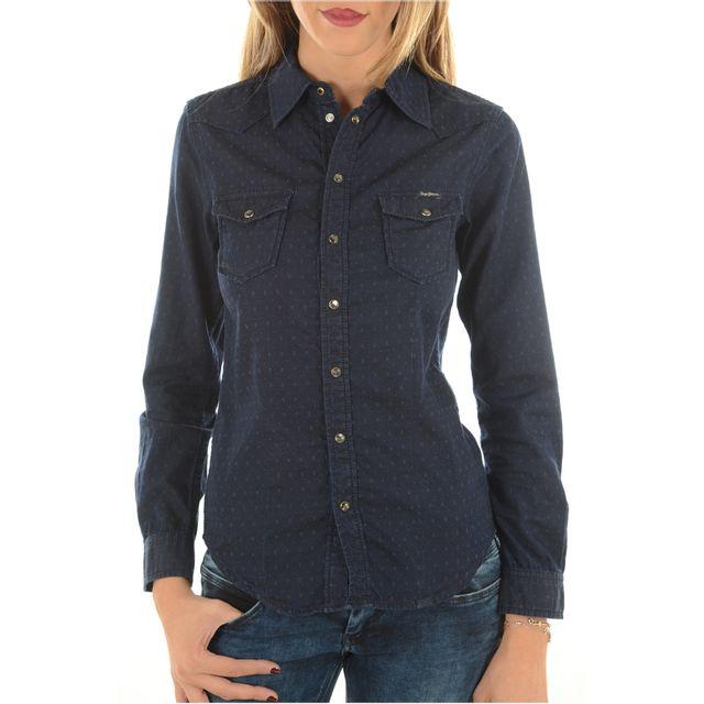 2d3878a64934 Pepe Jeans - Chemises Femme Pl300999k49 Rosie - pas cher Achat   Vente  Chemise femme - RueDuCommerce