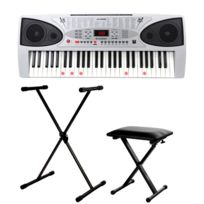 Mcgrey - Lk-5430 clavier touches lumineuses pack incl. stand et banc