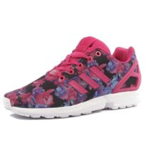 official photos ecbc6 4c0b7 Adidas - ZX Flux Femme Fille Chaussures Rose Multicouleur 36 2 3