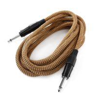 Frontstage - 6,35mm câble jack 3m gaine textile mono noir/or