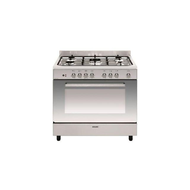 Glem Cuisinière E-cooker 90 X 60 Cm Inox - Four Électrique Multifonction Cat - Ge960cbix2