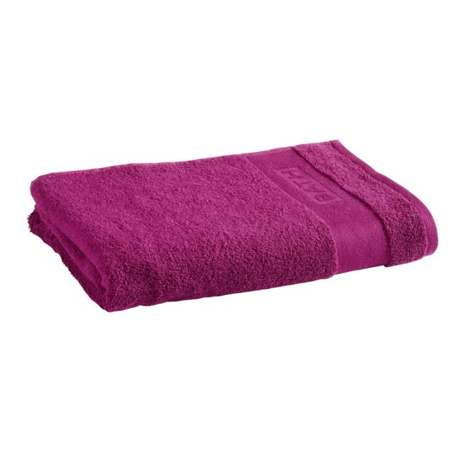 tex home drap de douche bath en coton violet 140cm x 70cm pas cher achat vente. Black Bedroom Furniture Sets. Home Design Ideas
