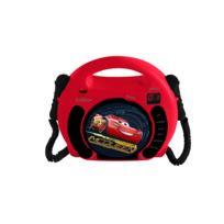 LEXIBOOK - CARS 3 - Boombox, Lecteur CD avec 2 micros et prise casque - RCDK100DC