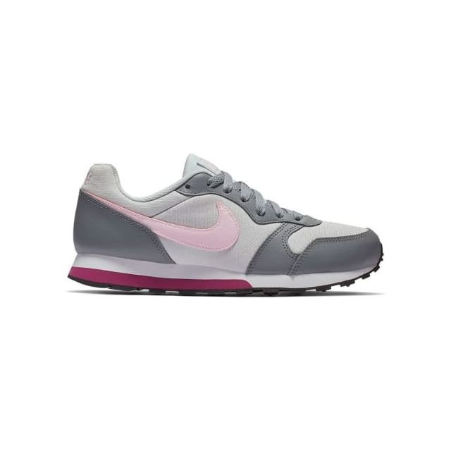 reputable site 5ae37 5e111 Nike - Chaussures Md Runner 2 gris blanc rose junior - pas cher Achat   Vente Chaussures fitness - RueDuCommerce