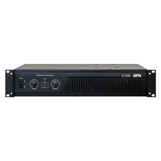 Hpa B1500 Amplificateur de puissance professionnel 2 x 500W/8ohms 2 x 750W/4ohms, 1500W bridgé sous 8ohms