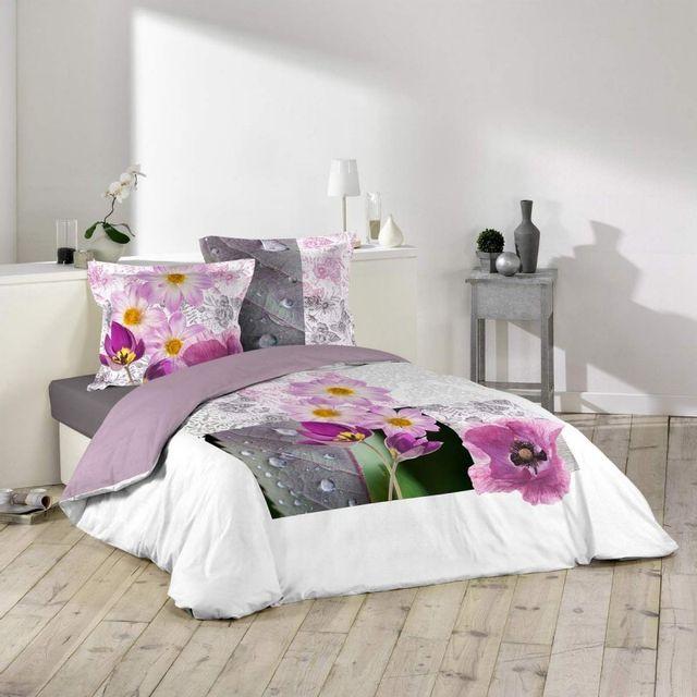 paris prix parure de lit 3 pi ces adela de 240x260cm multicolore nc pas cher achat. Black Bedroom Furniture Sets. Home Design Ideas