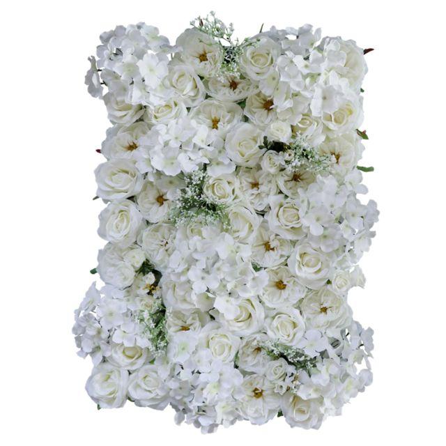 Fleurs artificielles rose exterieur jaune blanche