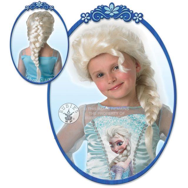 DISNEY Perruque Elsa Frozen La reine des NeigesTM fille - Taille Unique