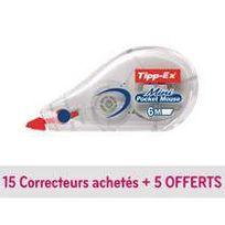 Tipp-ex - Correcteur à sec Mini Pocket Mouse' - lot de 20 dont 5 gratuits