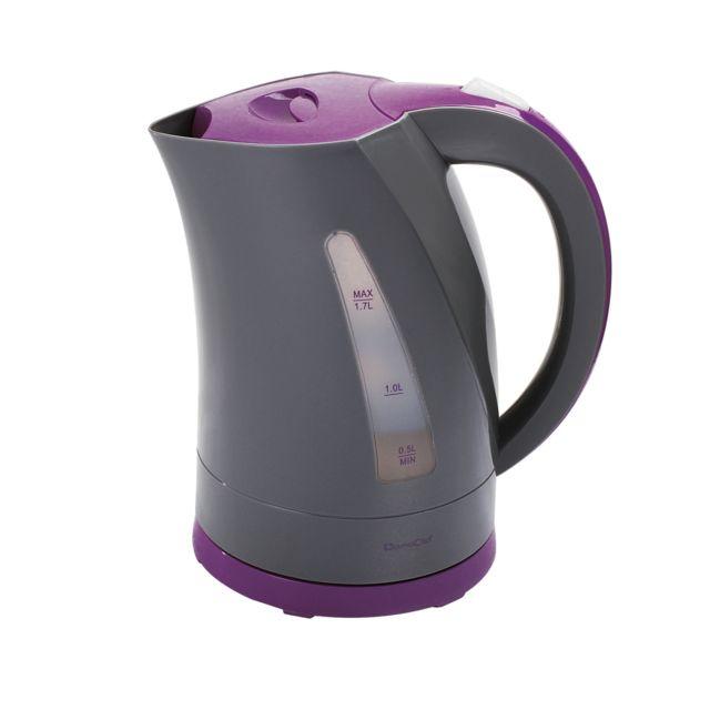 DOMOCLIP Bouilloire électrique bicolore gris/violet DOM298GVI