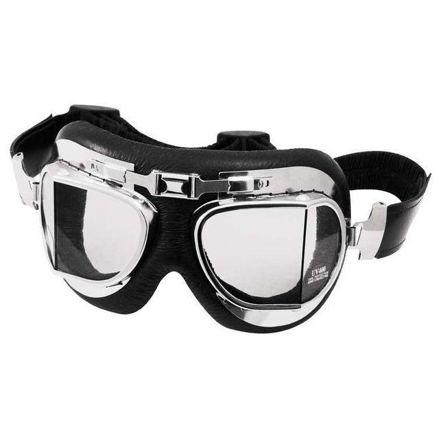 Torx - Lunettes moto Air Force Black/Chrome/Clear
