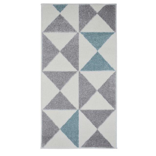 Koton Tapis De Salon Scandinave Forsa Bleu Pastel 80x150cm Pas