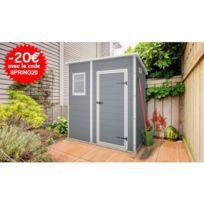 Châlet & Jardin - Abri de jardin resine 2.06m² - Premium 64 simple porte