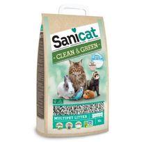 Sanicat - Litiere Clean & Green Cellulose 10L - Pour chat