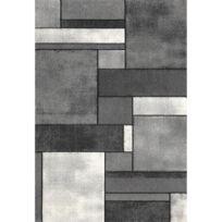 Allotapis - Tapis contemporain gris en polypropylène Orane
