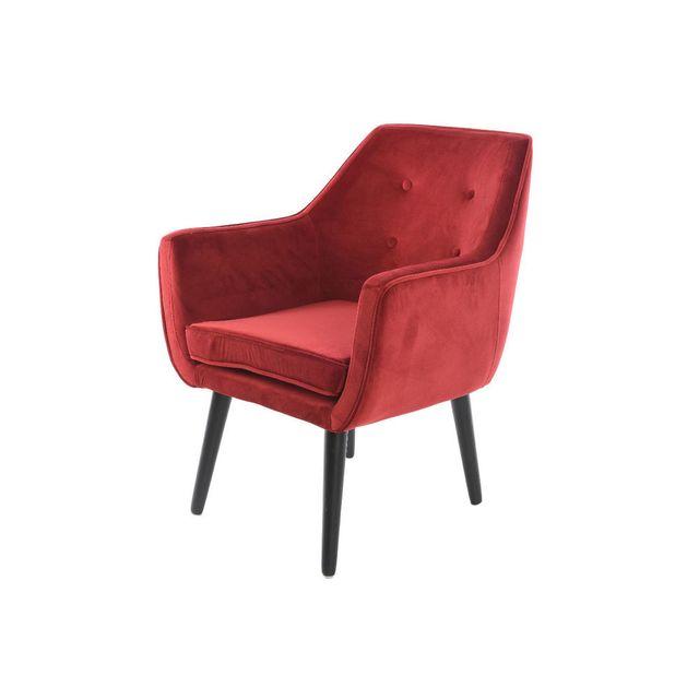 mathilde et pauline fauteuil en velours rouge avec dossier capitonn chantilly sebpeche31. Black Bedroom Furniture Sets. Home Design Ideas
