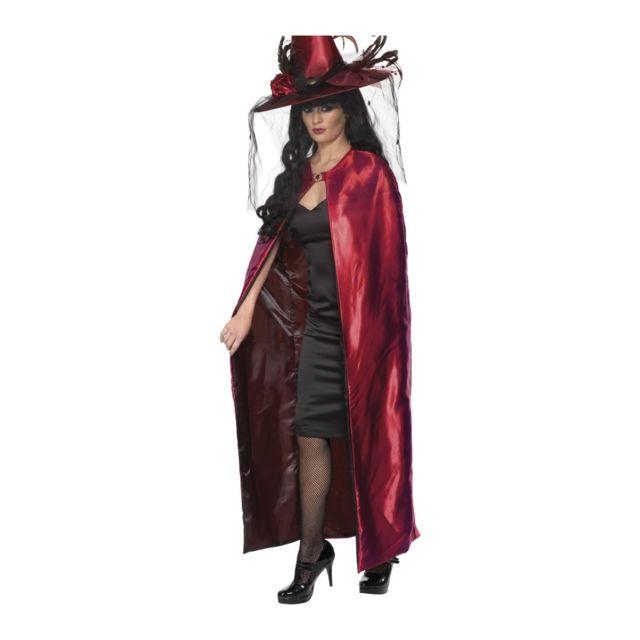 Generique Cape Vampire Velours Rouge et Noire r/éversible Adulte